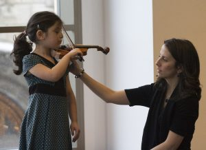 Parents learn at Oak park string academy