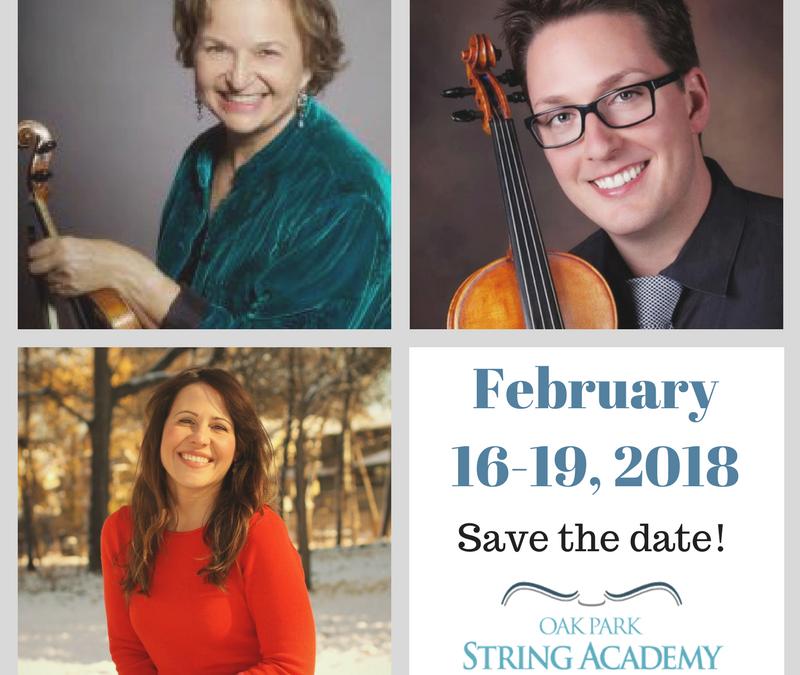Almita Vamos, Stefanie Faye Frank and Charles Krigbaum at Oak Park String Academy