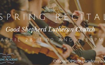 Spring Recital at Oak Park String Academy
