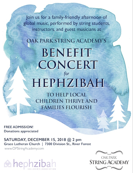 Benefit Concert for Hephzibah: Saturday, December 15 @2p