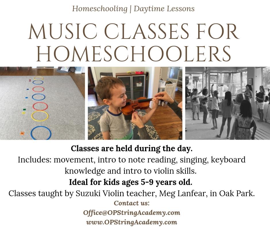 Homeschool Group Music Classes   Oak Park String Academy