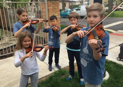 Oak Park String Academy at Whats Blooming on Harrison Street Festival