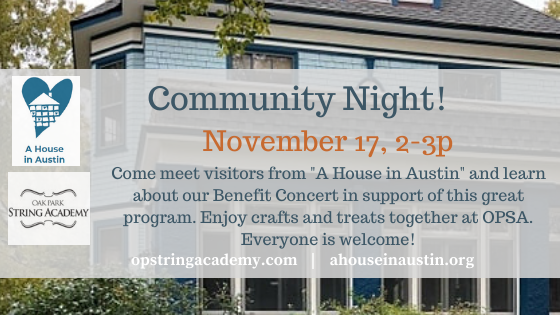 Community Night for Benefit Concert recipient: A House in Austin