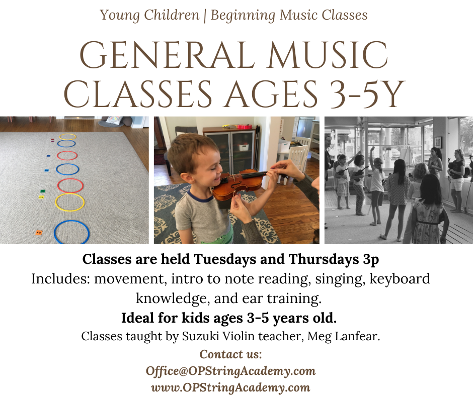 General Music Classes at Oak Park String Academy