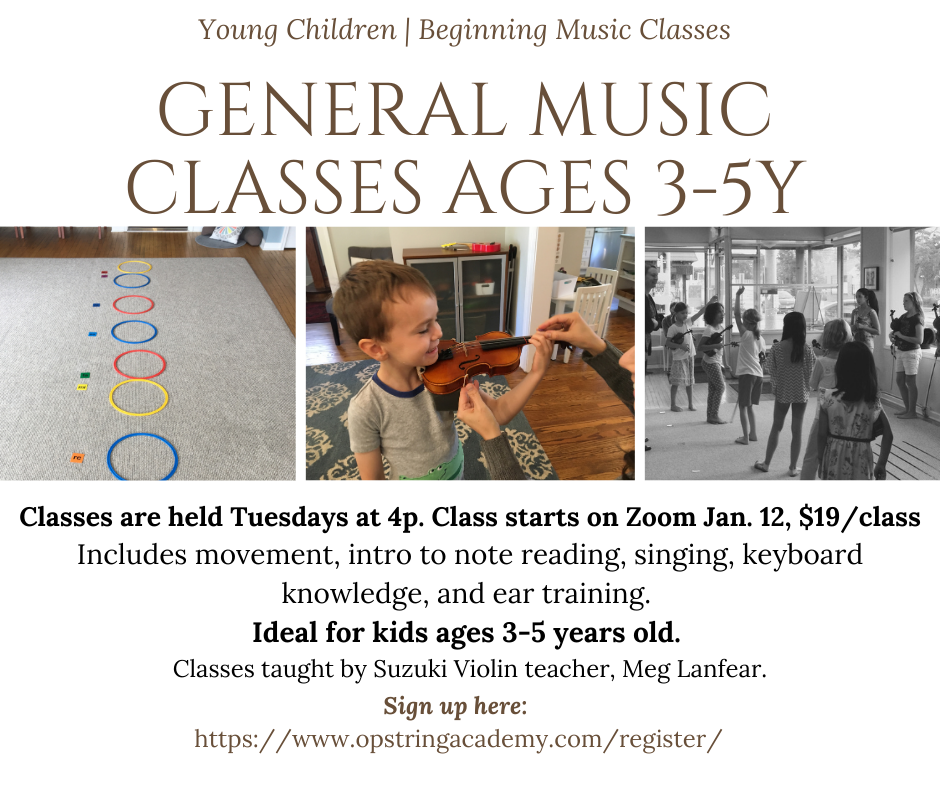 January General Music Class Date January 12